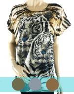 Polera Lycra Animal Print x4 unds. Talla:Standar