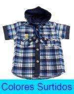 Camisa Cuadrille x 3 unds Talla: de 0 a 2 años