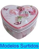 Set Caja de Metal Corazón x6 set.  3 PCS