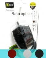Mouse Optico x 6 Unds. Colores surtidos