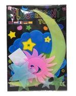Set Stikers de Plastico Fluor x24 Set. 6 PCS