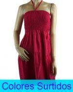 Vestido Liso de Algodón Largo x12 unds. Tallas: Standar