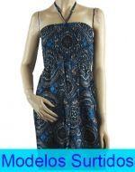 Vestido Largo de Algodón x12 unds. Tallas: Standar