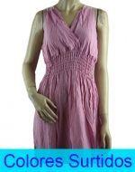 Vestido Largo de Algodón x12 unds. Tallas: XL - XXL
