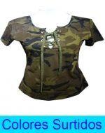 Polera Militar x6 Unds Talla: S/M - L/XL
