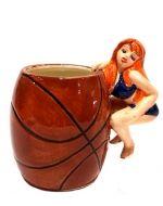 Vaso de Ceramica 6 x 6 X 10 cm Aprox. x4 unds.