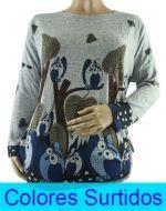 Polera con Diseño Dama  x4 unds. Tallas : L-XL