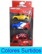 6 Set de Auto Cars  Medidas : 7 x 3 cm aprox.