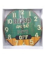 Reloj de Madera x 6 Unds. Medida: 30 X 30 cm.