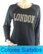Polera London x4 unds. Talla : Standar