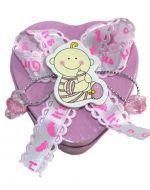 Caja de Metal para Baby Shower x12 Und. Medida: 6x3 cm Aprox.
