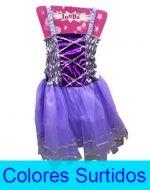 Vestido Princesa x6 Und. Tallas: 4 a 5 Años.