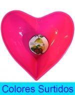 Frutera de corazón de 22x24x14cm Aprox. x4 unds.
