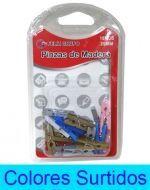 12 Set de  Pinzas de Madera  Medida: 25 mm