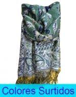 Pashmina Dama con Diseño x6 Unds. Medidas: 150x50 cm