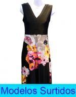 Vestido Largo con Diseño x2 unds. Tallas: Standar