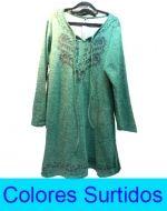 Vestido Lanilla Dama con Diseño x3 Unds Talla: L/XL