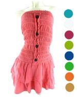 Vestido Bambula c/Boton x 3 unds. Tallas: Standar