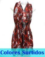 Vestido de Lycra con Encaja Atras x4 unds. Talla: Standar