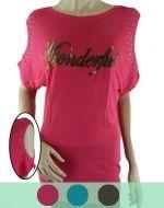 Polera de Algodon con diseño x3 unds. Tallas: Standar