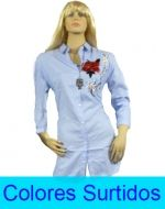 Blusa Dama Manga Larga con Diseño Larga x3 Unds Talla: S/M