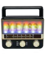 Parlante Bluetooth con Radio y Luz  M123U x 3 Unds.