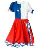 Vestido de Huasa Chile x 4 Unds. Tallas: 12-14