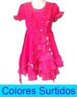 Vestido Huasa x 12 Unds. Tallas: 6 a la 12