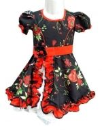 Vestido de  Huasa  Niña  x  6 Unds. Tallas: 2 a la 14