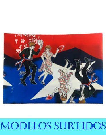 Mantel de Tela Fiesta Patrias x6 Unds. 200 x 145 cm aprox.