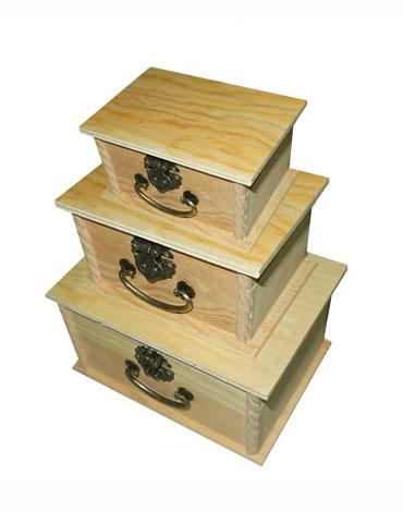 4 Set de Caja de Madera