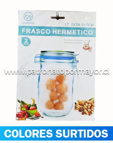 Frasco Hermetico x6 unds. Medidas:17.5 x 24.5 + 7 CM