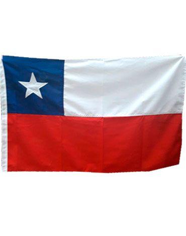 Bandera de Chile  Estrella Bordada x 4 Unds : Medidas:90 x 60  CM