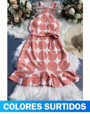 Vestido Corto de Dama x 12 Unds. Talla: S - M - L