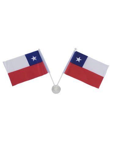 12 Set de Banderas Chile con Cupon