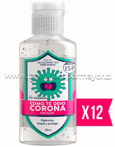 Alcohol Gel Aloe Vera con Aroma a Menta 60 ml x 12 Unds