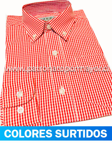 Camisa Cuadrille Manga Larga x 12 Unds. Tallas: 2 - 14