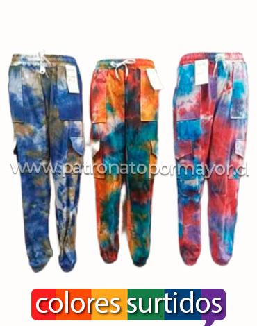Pantaalon Gargo Bicolor x 4 Unds. Talla: S/M - L /XL