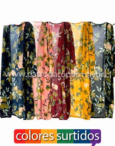 Kimono Largo Dama x 4 Unds. Talla: Standard