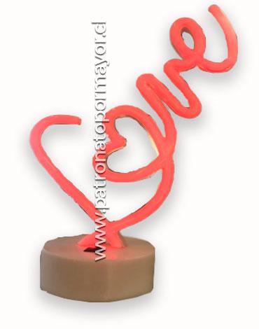 Lámpara Love x3 Unds 32cm