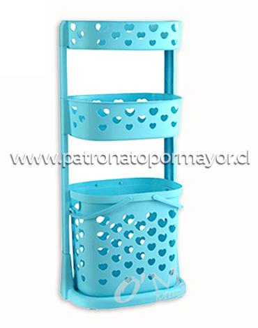 Organizador con Ruedas 3 Pisos 95.7 x 35 x 43.7 cm x 3 Unidades.
