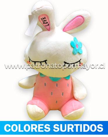 Peluche Conejo x 3 Unds.Medida: 20 cm Aprox