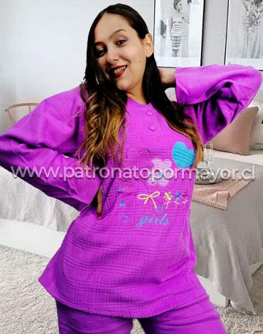 Pijama de Dama Polar  x 5 Unidades Tallas: S - M - L - XL - XXL