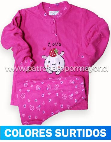 Pijama de Niña Polar x 4 Unidades Tallas: 4 - 6 - 8 - 10