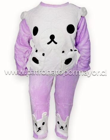 Pijama de Niña Plush x 4 Unidades Tallas: 16 - 18