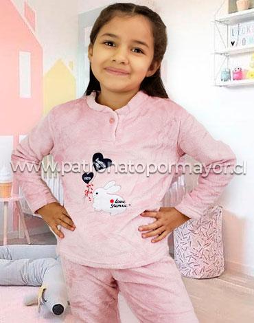 Pijama de Niña Plush x 5 Unidades Tallas: 6 - 8 - 10 - 12 - 14
