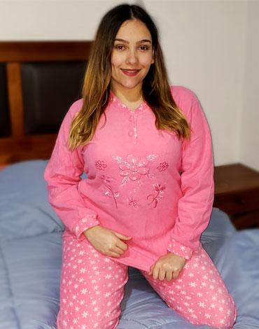 Pijama de Dama de Polar x 5 Unidades Tallas: S - M - L - XL - XXL