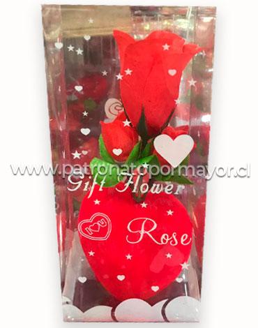 Rosa Artificial x6 Unds