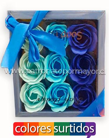Caja de Rosas Artificiales x6 Unds