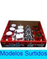 Velas Navideñas  x 12 Und. Medidas :  5 cm aprox